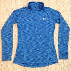 under armour all season gear semi fitted  1/4 zip